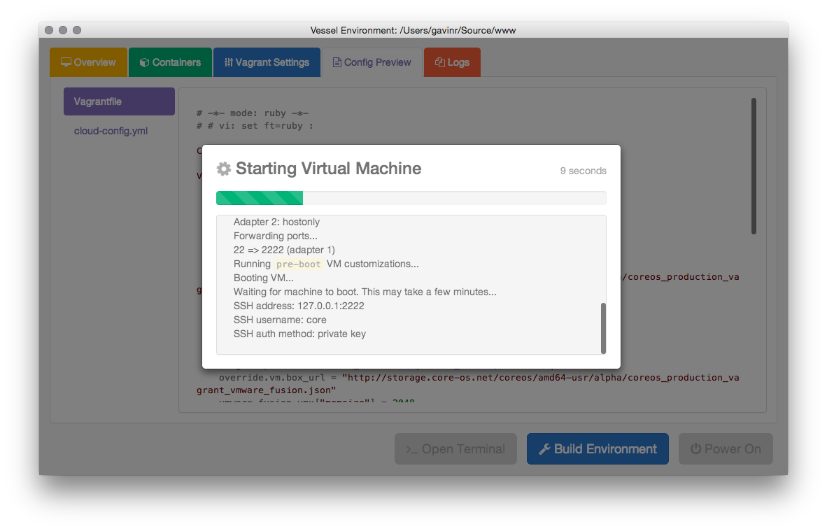 Starting a Virtual Machine